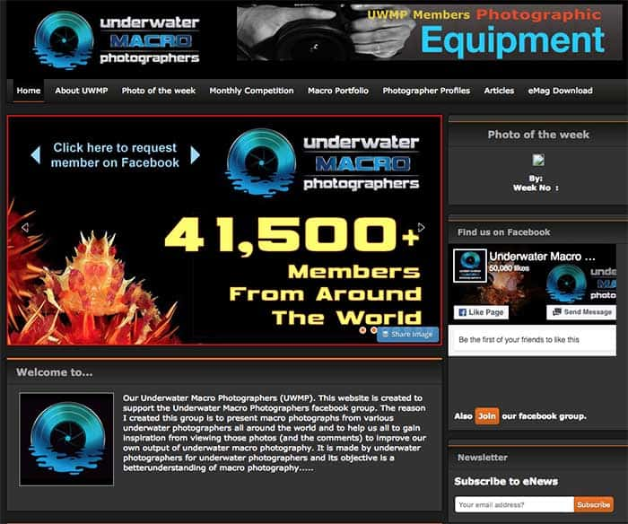 Underwater Macro Photographers website