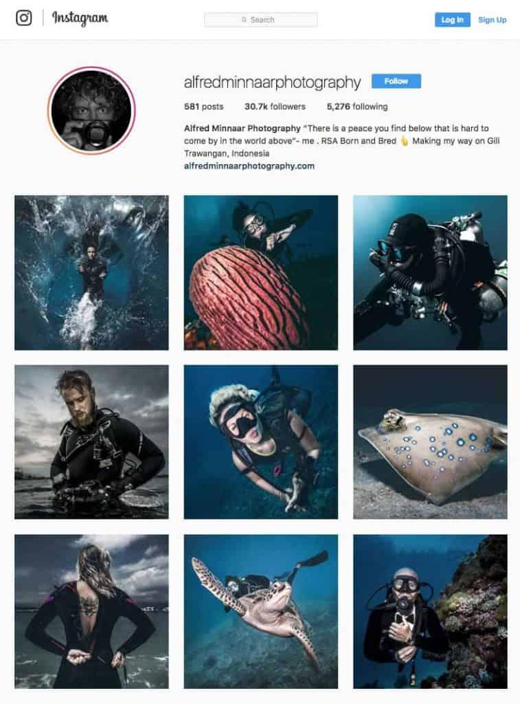 Underwater Photographer Alfred Manaar