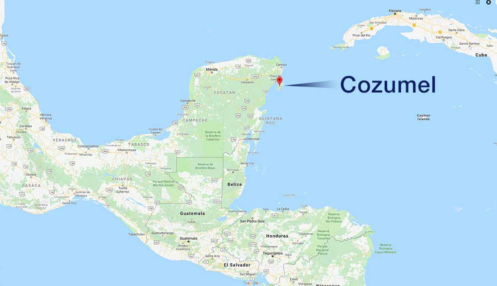 Where is cozumel - scale map