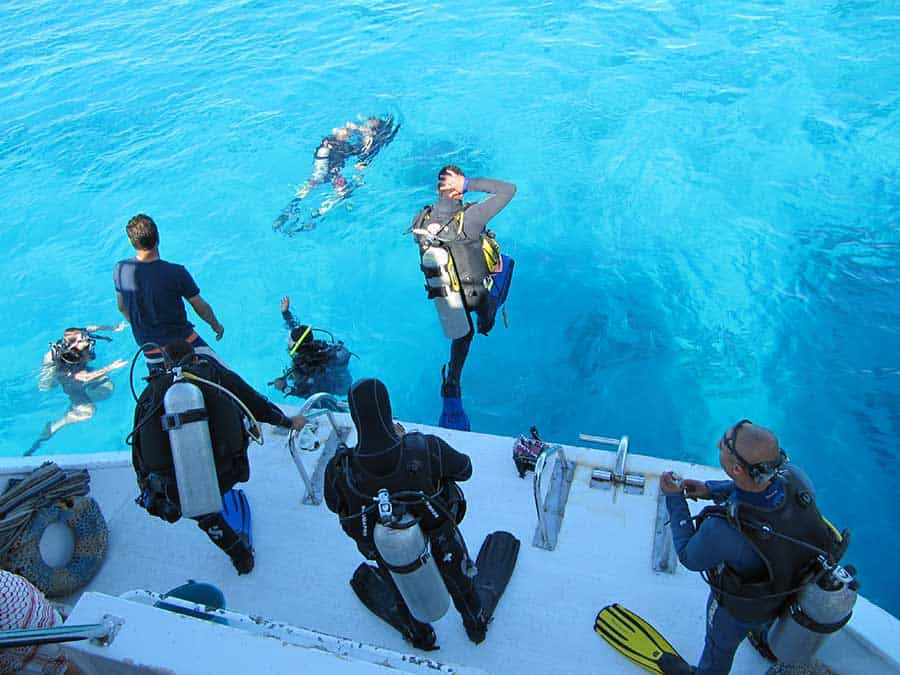 Scuba Diving From A Boat